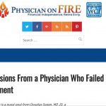Confessions from a Physician who Failed Early Retirement
